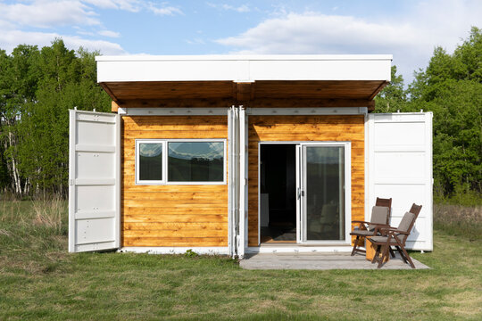 Small container home exterior