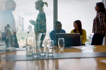 Business people working in conference room meeting