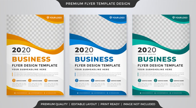 business flyer template design with minimalist concept and clea style use for corporate ads and business profile