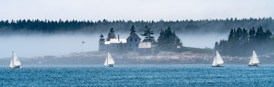 Lighthouse off the Schoodic Peninsula in Acadia National Park, Maine