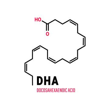 DHA, Docosahexaenoic Acid an essential polyunsaturated fatty acid of the Omega-3 class.