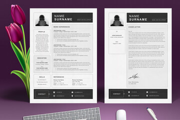 Resume / CV Template With Cover Letter