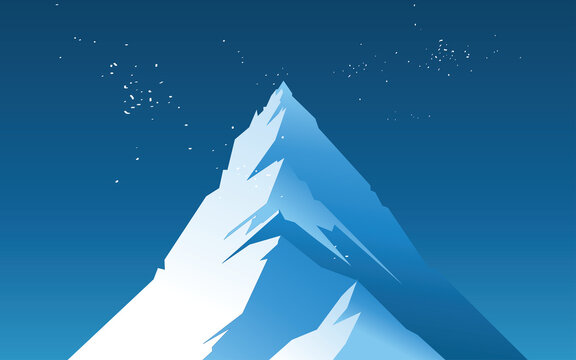 Peak mountain illustrations design with blue color