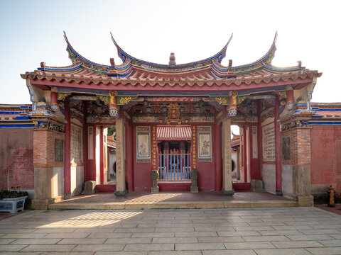 Changhua, Taiwan - March 22, 2018: Wenwu Temple, a historic temple in Lukang.
