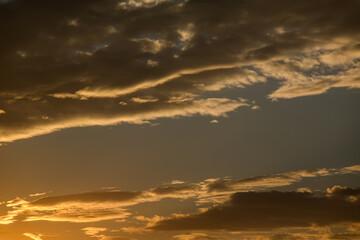 krajobraz niebo chmury tło wieczór lato