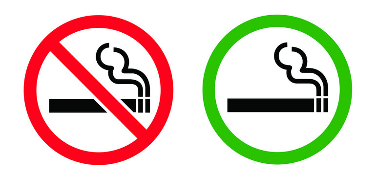 Stop do not smoke sign Smoke free zone including electronic cigarettes Forbidden no smoking Forbid cigarette tobacco area. Stop halt allowed, no ban. Flat vector signboard Stoptober No smoking day