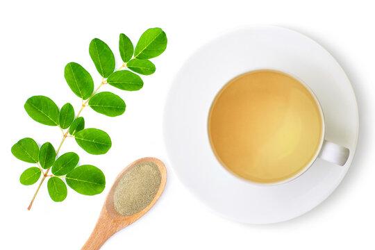 Moriga tea on white