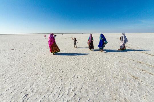 White Rann of Kutch, District Kutch, Gujarat, India.