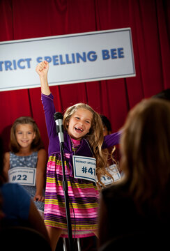 Spelling: Girl Spells Word Correctly
