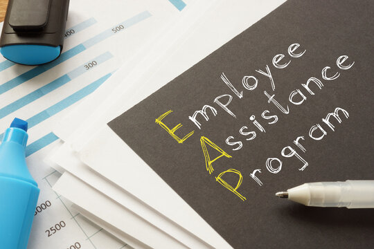 Employee assistance program EAP is shown on the business photo