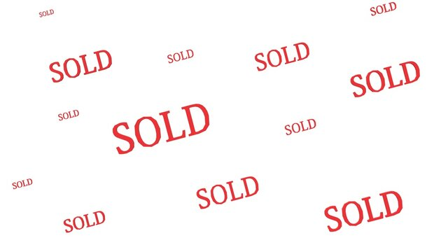 Sold out square sticker banner,