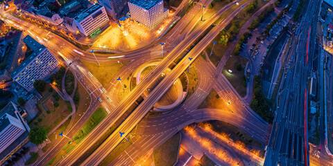 Halle Saale junction aerial Fotomurales