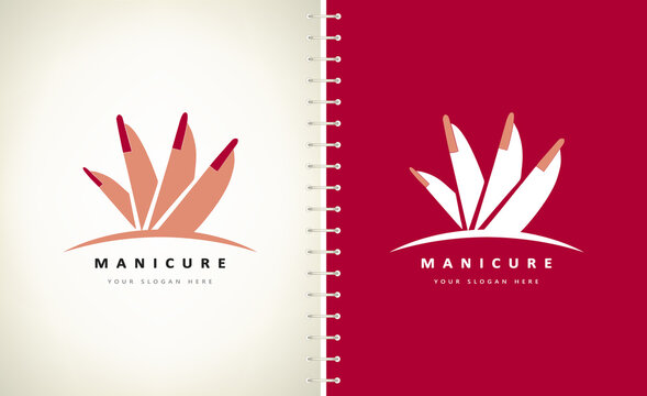 Fingers and manicure logo female vector.