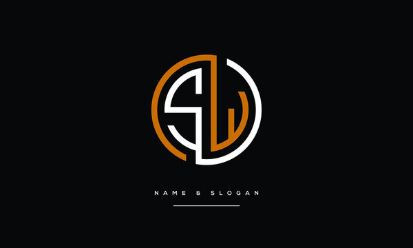 SW,WS,S W,  Abstract Letters Logo Monogram