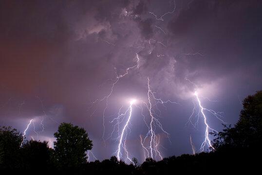 lightening storm on a summers night