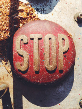 Big Red Stop Button