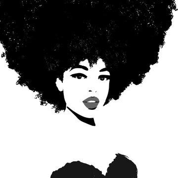 Black queen. African woman. Afro Hair.