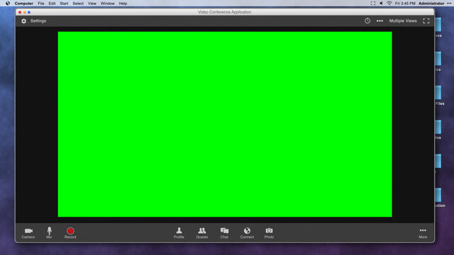 Generic Video Conferencing Interface with Green Screen Frame for Compositing over Video