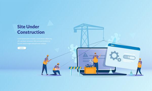 Illustration concept about site under construction