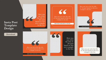 Social media post template collection.