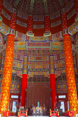 Beijing, China - Jan 10 2020: The Temple of Heaven is an imperial complex of religious buildings