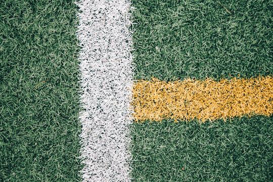 markings of a football field