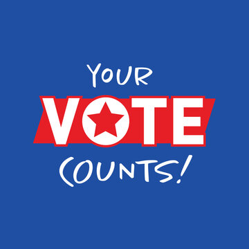Your Vote Counts graphic for the upcoming American election