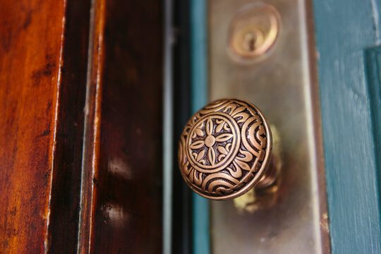 Ornate Brass Doorknob