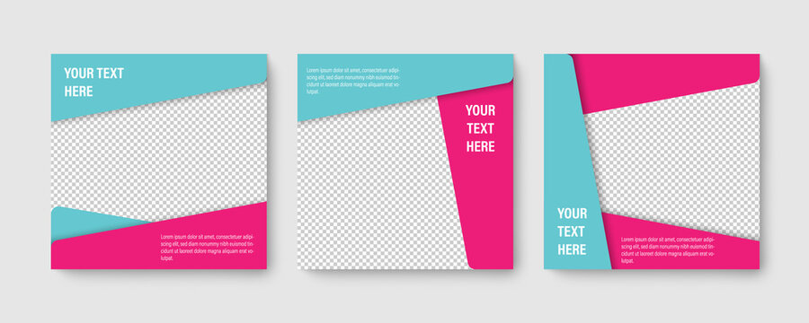 Social media editable post banner. Web banners for social media. Clear and simple design, vector illustration.