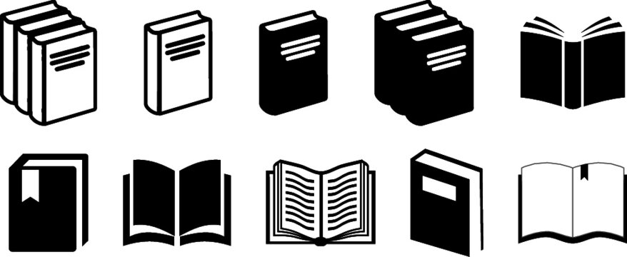 Book Icons Set Vectors