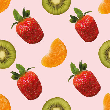 Früchte, Obst, nahtloses Hintergrundmuster