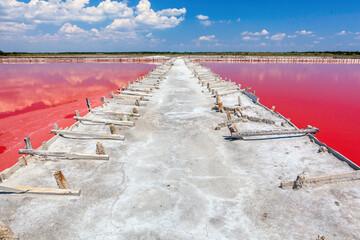 Salt evaporation pond.