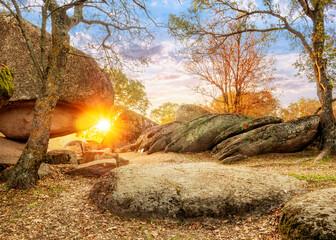 Beglik Tash megaliths - natural rock formation, prehistoric rock sanctuary on the southern Black Sea coast of Bulgaria