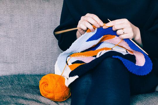 Knitting something colourful
