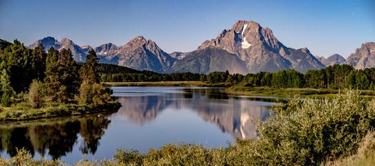 grand teton national park morning in wyoming