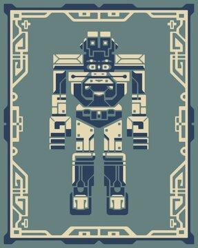 Mecha robot graphic character design