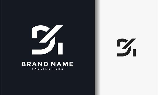 monogram letter D4 logo
