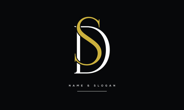 SD,DS ,S D,  Abstract Letters Logo Monogram