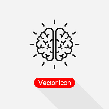 Mind Research Icon, Brain Icon Vector Illustration Eps10
