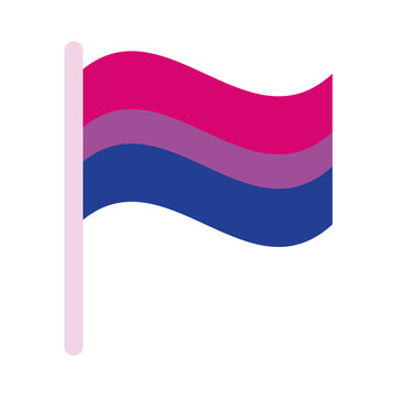 bisexual pride flag of sexual orientation multy style icon