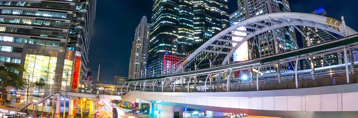 Banner of Bangkok Thailand at night