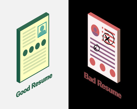 Good and bad example of resume vector