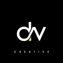 DV Letter Initial Logo Design Template Vector Illustration