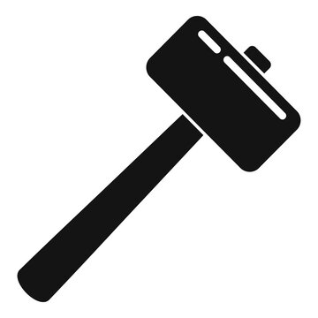 Tiler sledge hammer icon. Simple illustration of tiler sledge hammer vector icon for web design isolated on white background