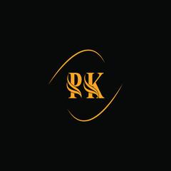 Obraz P K joint letter logo abstract design - fototapety do salonu