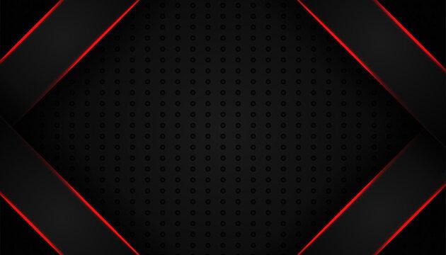 abstract red light line on black background. modern luxury design vector illustration