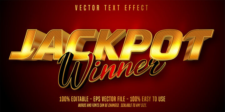 Jackpot prize style, editable text effect