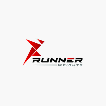 Runner logo. Fast simple stylized