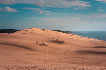 The great Dune of Pilat, highest dune of Europe at Arcachon, Aquitanie, France.