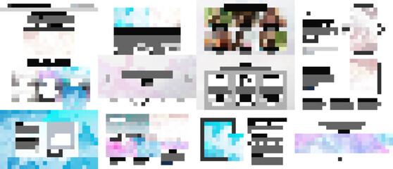 Fototapeta Vector templates for website design, presentations, portfolio. Templates for presentation slides, flyer, leaflet, brochure cover, report. Wave flow background for science or medical concept design.